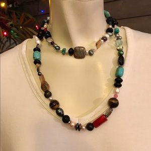 Handmade Colorful Long Beaded Necklace